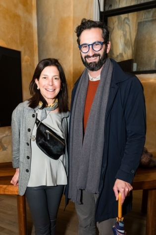 Want to know where to find SFMOMA peeps Susan Swig and Joseph Becker? Just look for the major art exhibition.