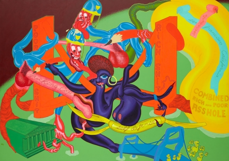Self-Defense, 1969, Oil on canvas, 68 x 96 inches,