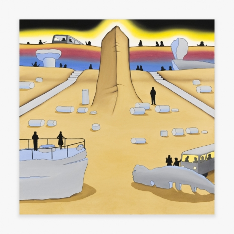 Artwork by Roger Brown titled Painted Desert, from 1971
