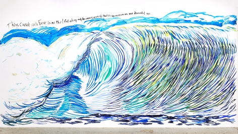Raymond Pettibon No Title (Thiys caused such...)
