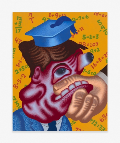 Painting by Peter Saul titled Worst Student in the Class from 2020