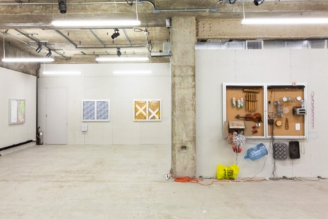Installation view of Bulletin Boards, Venus Over Manhattan, 2012