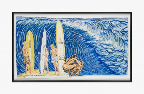 Raymond Pettibon No Title (When the surf…)