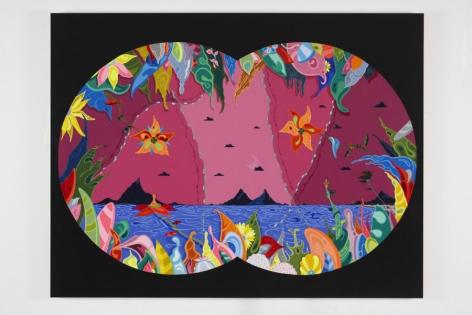 """SEEN, 2014 Acrylic on canvas 64"""" x 84"""""""