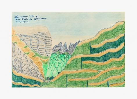 "Drawing by Joseph Yoakum titled ""Cumberland Mtns near Nashville Tennessee"" no date"