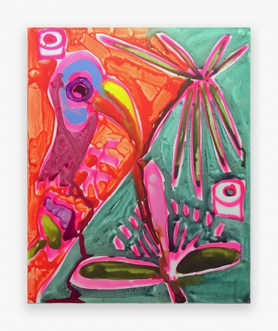 Katherine Bernhardt Toucan green/orange, 2016