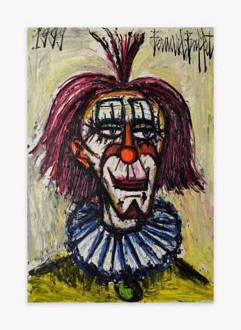 Bernard Buffet Clown à la collorette bleue, 1999
