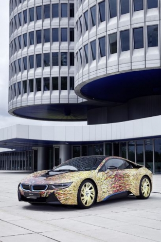 The BMW i8 Futurism Edition, A unique model created by Garage Italia Customs to celebrate 50 years of BMW.