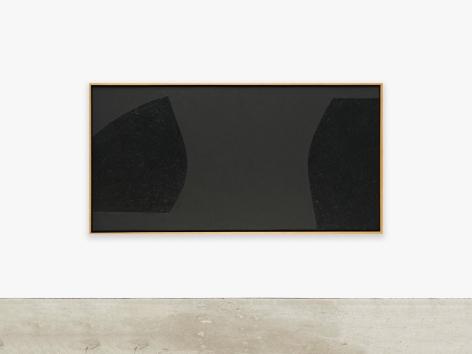 Painting by Alberto Burri titled Nero Cellotex, 1986-1987
