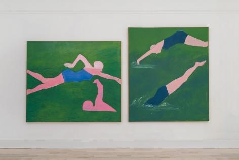"Installation view of ""Joan Brown,"" Venus Over Manhattan, New York"