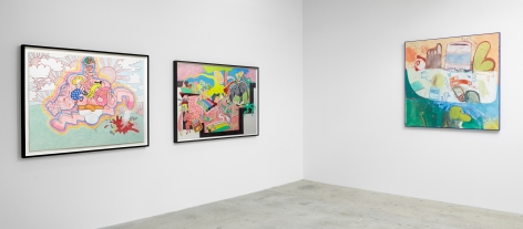 Installation view of Peter Saul: From Pop to Punk, New York, Venus Over Manhattan, 2015
