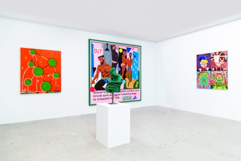 Installation view of Out of Control, curated by Peter and Sally Saul, New York, Venus Over Manhattan, 2018