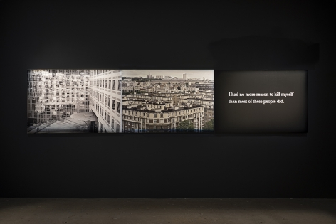 Installation View ofMichel Houellebecq: French Bashingat Venus, New York
