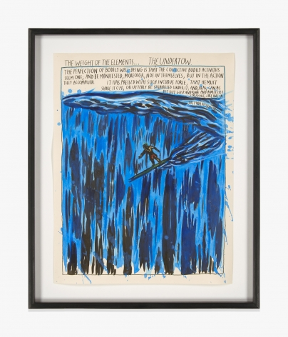Raymond Pettibon No Title (The weight of…)