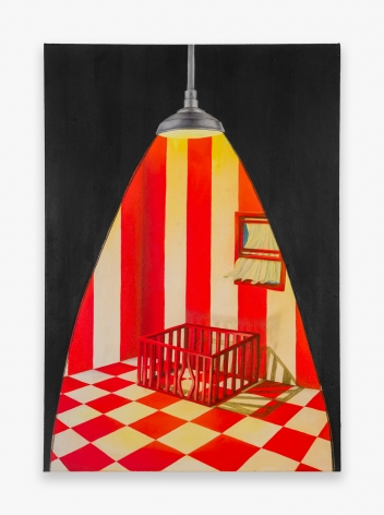 Painting by Rachel Marino, titled The Room, from 2020