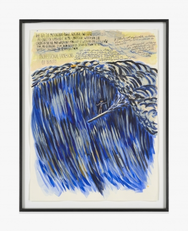 Raymond Pettibon No Title (The sea, the…)
