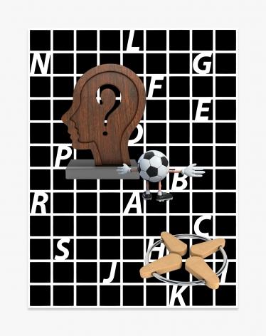 Asha Schechter Picture 050 (Artistic Sculpture of Thought, Trveit_03, Character Cartoon Football, Alphabet Pattern)