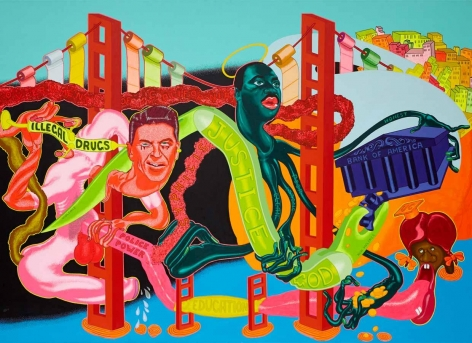 Painting by Peter Saul titled Government of California from 1969