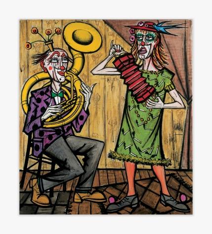 Bernard Buffet Les clowns musiciens, le tuba