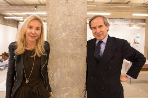 Art-world power couple Michaela and Simon de Pury,