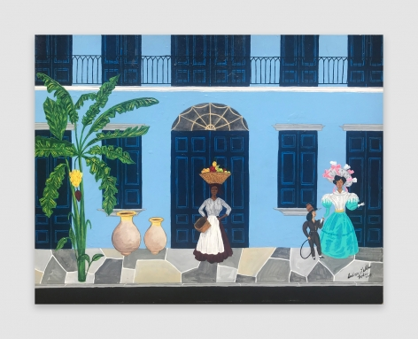 Painting by Andrew LaMar Hopkins titled Old Creole Days