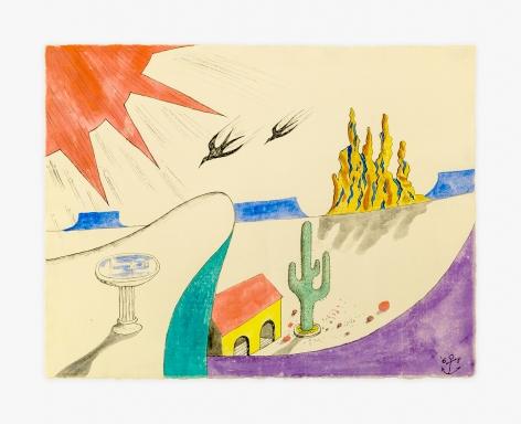 H.C. Westermann Image of Cactus/Sun, 1968