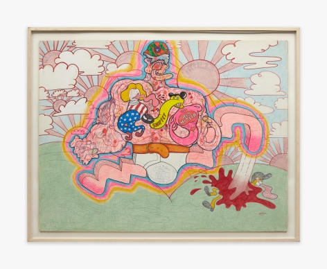 Peter Saul Red Hitler, 1966