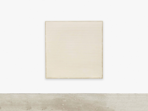 Robert Ryman, Meridian, 1971. Enamelac on stretched sized canvas; 60 x 60 in (152.4 x 152.4 cm)