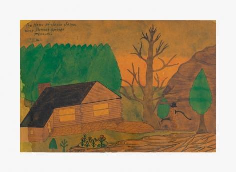Joseph Elmer Yoakum The Home of Jesse James Near Bonner, 1964