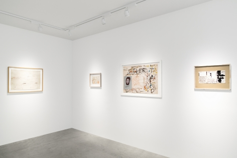 Installation view of Sculptures of Existence: Alberto Giacometti, Cy Twombly, Franz West, curated by Dieter Buchhart, New York, Venus Over Manhattan, 2018
