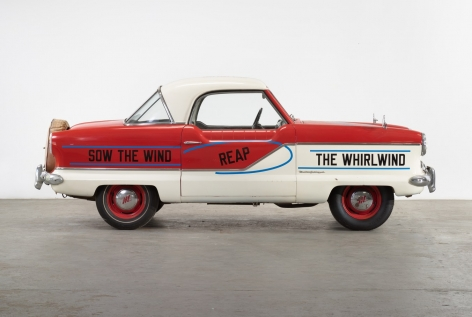 "LAWRENCE WEINER, ""UNTITLED (SOW THE WIND, REAP THE WHIRLWIND),"" 2015. NASH METROPOLITAN, PAINT."