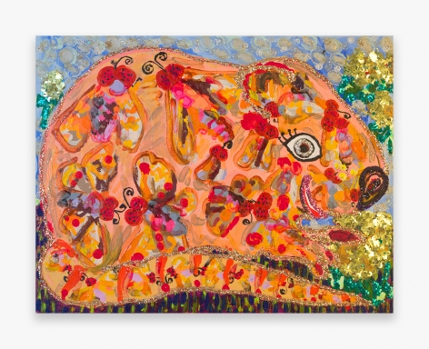 Painting by Maija Peeples-Bright, titled Moth Mouse, from 1975