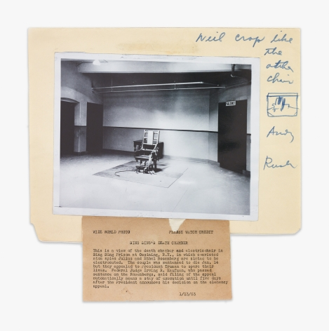 "Photograph (""Sing Sing Death Chamber""), source for Warhol's 1963 Electric Chair series, 1962-1963"