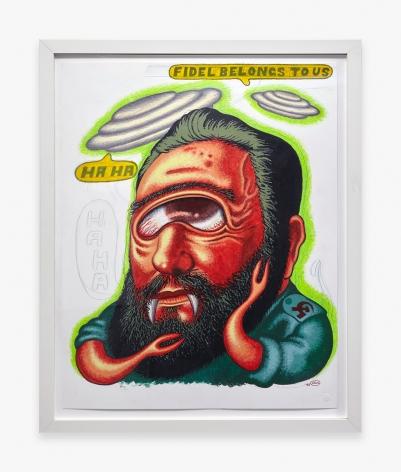 Peter Saul, Fidel Belongs to Us, 1995