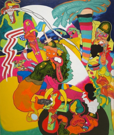 "Peter Saul, ""Vietnam,"" 1966. Copyright Peter Saul. Courtesy of Mary Boone Gallery, New York."