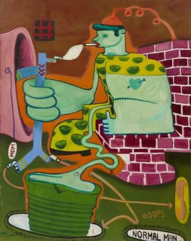 "Peter Saul, ""Sex Deviate Being Executed"" (1964), oil on canvas, 79 x 52 inches"