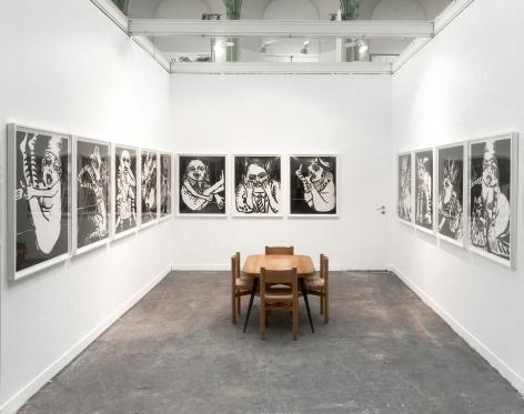 Installation view of Maryan at FIAC, Paris, 2018