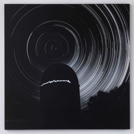 Jack Goldstein, Untitled (Observatory), 1983. Acrylic on canvas 60 x 60 inches. Courtesy of Venus over Manhattan.