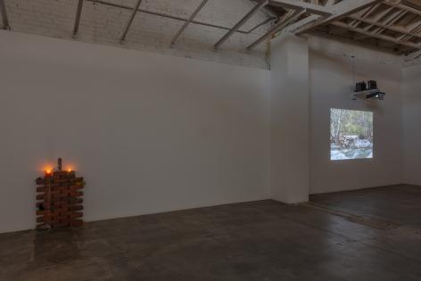 Installation view of Concrete Island, Los Angeles, Venus Over Los Angeles, 2017