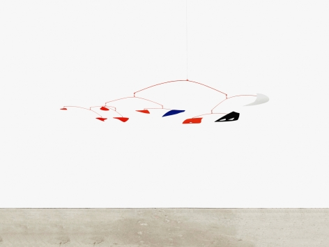 Sculpture by Alexander Calder titled White Moon, from 1955