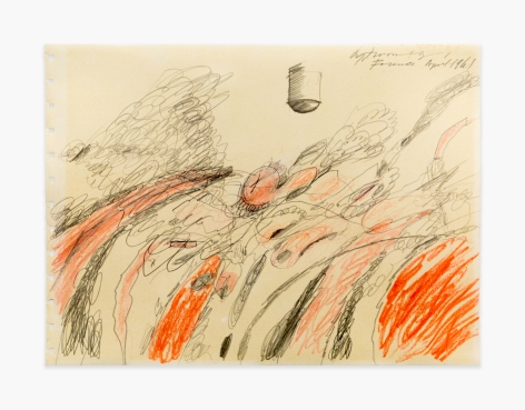 "Cy Twombly Untitled (Study for ""Triumph of Love""), 1961"