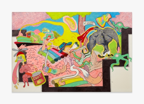 Peter Saul  Homage to Thomas Hart