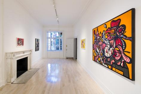 "Installation view of ""Maryan,"" curated by Eddie Martinez, at Venus Over Manhattan, New York"
