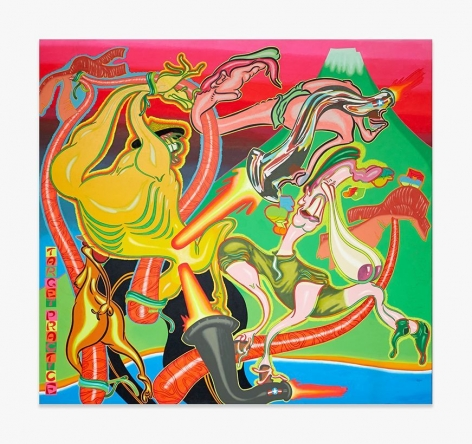 Painting by Peter Saul titled Target Practice