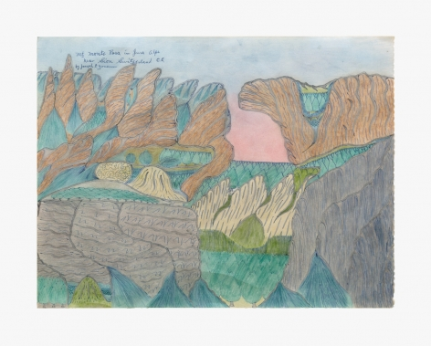 Joseph Elmer Yoakum Mt. Monte Rosa in Jura Alps, c. 1970