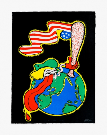 Peter Saul World of America No. 2, 1967 PSAUL049