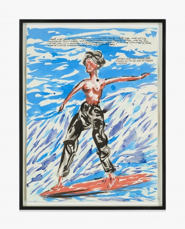 "Raymond Pettibon  No Title (small, mild ""paints""…)"