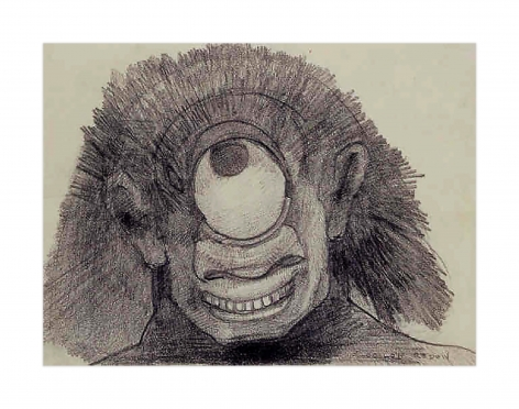 Odilon Redon Head of Cyclops