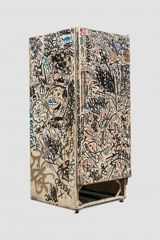 Jean-Michel Basquiat, Keith Haring + Others Untitled (Fun Fridge), 1982