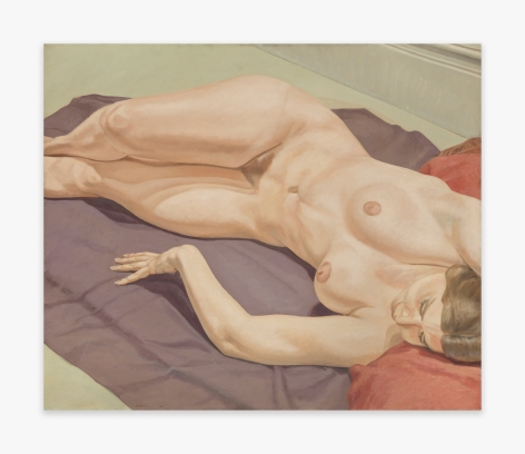 Philip Pearlstein Lying Female Nude on Purple Drape, 1968